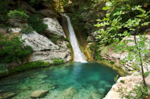 Polylimnio Messinias. A paradise of nature with waterfalls and small lakes and pool
