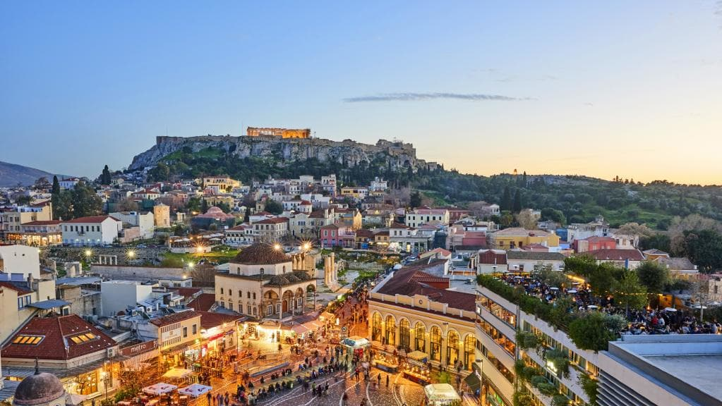 Athens city morning sightseeing