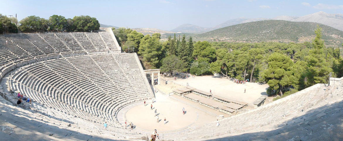 The famous ancient theatre of Epidaurus