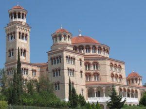 The Church of Agios Nektarios aegina
