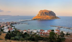The castle or the rock of Monemvasia