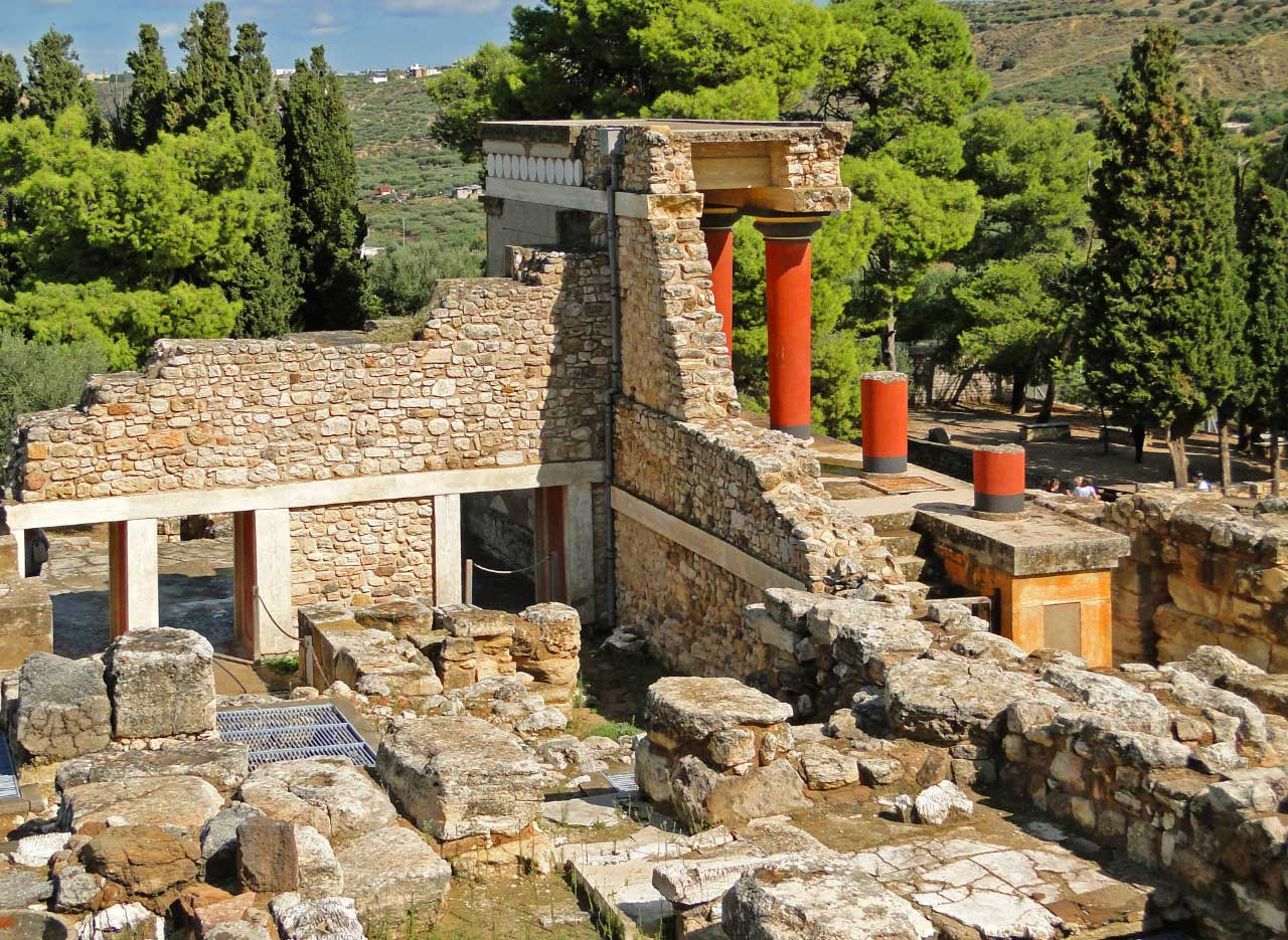 Knossos the capital of Minoan Crete