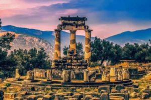 The Pnonaia temple in Delphi