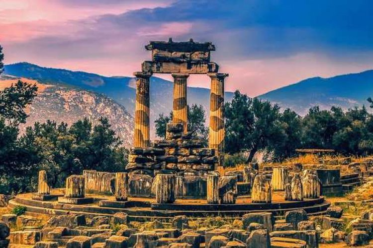 The Pnonaia temple in Delphi
