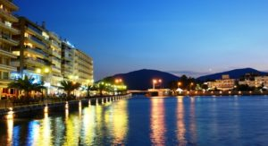Chalkida at night